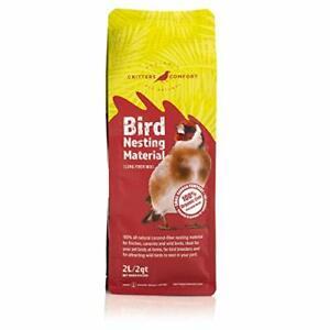 Critters Comfort Bird Nesting Material Natural Coconut Fiber - 2Quarts   2Liters