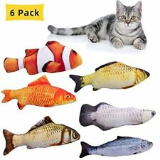 6 Pack Catnip Stuffed Toys, Fish Cat Toy Perfect for Your Cat
