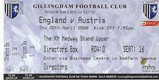 A Football International Fixture Tickets & Stubs