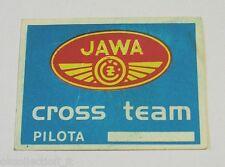VECCHIO ADESIVO MOTO / Old Sticker JAWA CROSS TEAM MOTOCROSS (cm 6x4)