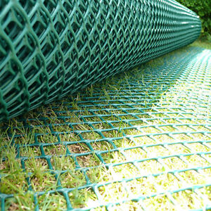 Standard Grass Turf Reinforcement Mesh Car Park Ground Protection 1m x 10m Green