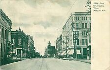Mississippi, MS, Meridian, Fifth Street Looking West 1909 Postcard