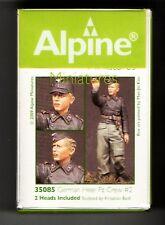 ALPINE MINIATURES 35085 - GERMAN HEER Pz CREW #2 - 1/35 RESIN KIT
