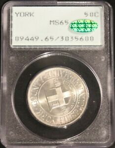 1936 York County Commemorative Half $- PCGS - MS65 CAC - #23756 FREE SHIPPING