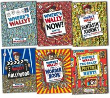 Where's Wally 6 Large Picture Books Set Collection - Paperback Brand New