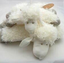 Amadéus lot de deux peluches moutons semi-plat 40x 27 cm
