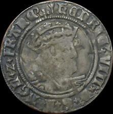 Henry VIII - Groat, Laker D bust MM arrow hammered coin