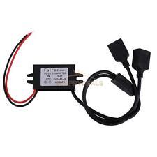 Power Adapter DC-DC Converter Dual USB Step-Down Module 12V To 5V Regulator NEW