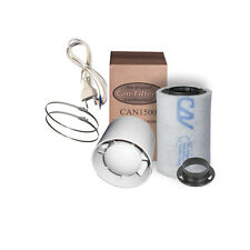 Lüftungsset 100 eco 100m³/h 100mm Can Aktivkohlefilter AKF GHP InlineFan Grow