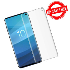 Samsung Galaxy S10 Full Coverage Clear Anti-Bubble 3D Film Screen Protector