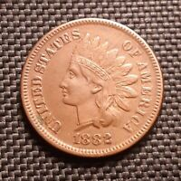 1882 Indian Head Cent/Penny - VF+ Very Fine+