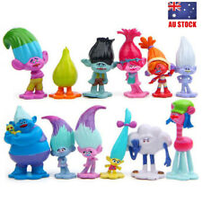 Trolls Biggie Poppy Prince Gristle 12PCS Action Figure Cake Topper Toy Kids Gift