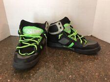 OSIRIS NYC83 BLACK & LIME GREEN SKATEBOARDING SHOES SIZE 8