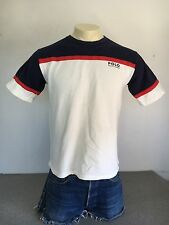 POLO RALPH LAUREN Shirt 80s/90s Cotton Tshirt Red White Blue 4th July PRL Large