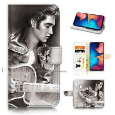 ( For Huawei Y7 2019 ) Wallet Flip Case Cover PB21506 Elvis Presley