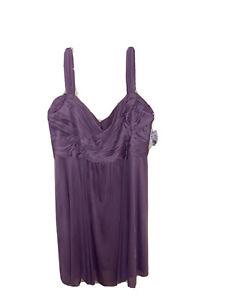 David's Bridal Wisteria Short Mesh Split Sleeve Womens Size 20 Bridesmaid Dress