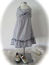 °KANZ° traumhaftes maritimes Neckholder Kleid blau weiß  Rüschen 2 lagig 104 NEU