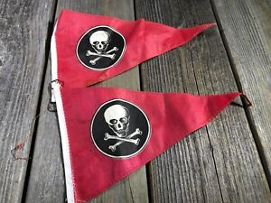 MUSCLE BIKE BICYCLE POST FLAG PIRATE FLAG VINTAGE BIKE BICYCLE ACCESSORY NOS