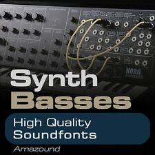 SYNTH BASS SOUNDFONT COLLECTION 300 .sf2 FILES GREAT SAMPLES - BEST VALUE EVER