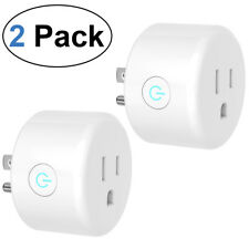 HOMEMAXS Smart WiFi Plug Works with Amazon Alexa and Google Assistant  2 Pack