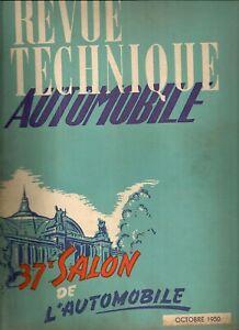REVUE TECHNIQUE AUTOMOBILE 54 RTA 1950 SALON DE L'AUTOMOBILE 1950