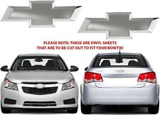 Colormatched Silver Ice Metallic Vinyl Bowtie Decals For 2012-2018 Chevy Cruze