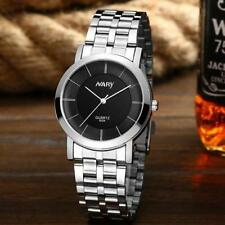 Ladies Silver Nary Quartz Black Face Stainless Steel Linked Band Wrist Watch.