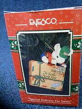 """Enesco 1993 """"Special Delivery For Santa"""" Mouse Mail Christmas Ornament (9812)"""