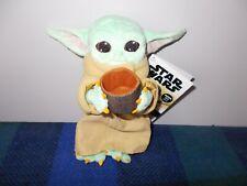 Disney Star Wars Mandalorian Baby Yoda The Child with Cup plush  FREE UK POSTAGE