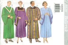 Butterick 3820 Graduation Choir Robe Collar Sewing Pattern XS-XL Unisex UNCUT