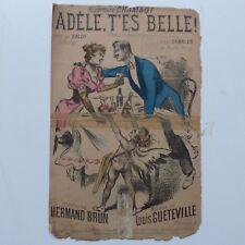 Partition Adele t es belle !  CHAMBOT  HERMAND BRUN  GUETEVILLE