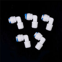 """5Pcs 1/4""""X1/4"""" Tube Push Fit Union Elbow Quick Connect Ro Water Filter WL"""