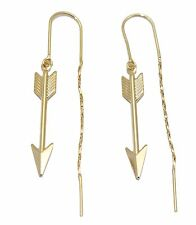 Arrow Dangle Earring 18k Gold Plated - Arrow Doble Sided Earring Arete Violador