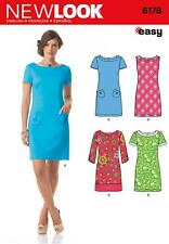 NEW LOOK PATTERN Misses' Dress with Sleeve Variations SIZE 8 - 18 6176