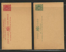 St  Vincent  2 postal cards 1 and 2 cent unused      MS0501