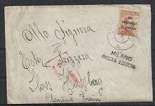 Dalmatia covers cover Villazzano / MILANO POSTA ESTERA to Sloss Homberg