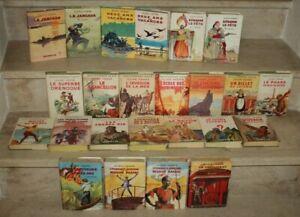 lot de 24 livres de jules verne aux éditions Hachette avec jaquettes