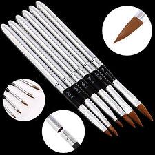 6x Acrylic Nail Art Brush Pen Kit Design Painting Dotting Detachable Tool Set
