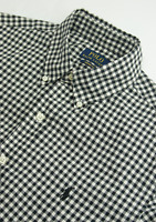 Ralph Lauren Cotton Twill Gingham Check Shirt Mens Size M Medium Custom Fit