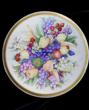 "Haviland Limoges GDA France S&G Gump Hand Painted Platter 17.5"" Artist Signed"