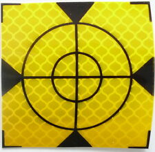 Reflex Zielmarken 30mm x 30mm GELB , 50 Stück Total Station