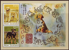 NEW ZEALAND 2006 YEAR OF THE DOG MINIATURE SHEET FINE USED