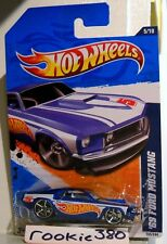 2011 Hot Wheels HW RACING #155 * '69 FORD MUSTANG * HW RACE TEAM 1969 BLUE