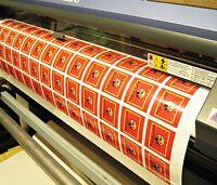 Bulk Order Custom White Vinyl Stickers to Your Design, Decals, Labels, Logos