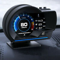 Car OBD2 GPS Multi-function Gauge Head-Up Display HUD Speedometer RPM Oil Temp