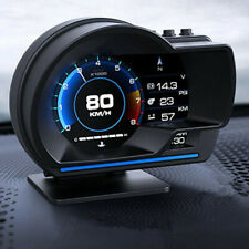 Car OBD2 GPS Multi-function Gauge Head-Up Display HUD Speedometer RPM Oil Temp