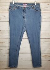 Women Within Slim Jeans Size 16 x 32 Tall Natural Fit Stretch High Waist Denim