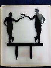 Wedding Cake Topper Mr. And Mr. same sex  5.1 Inch Black Reflective Shiny Bridal