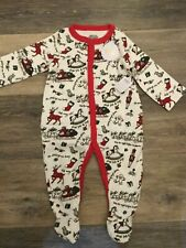 Mud Pie NWT Christmas One Piece Footed Knit Baby Sleeper Size 6-9 Months
