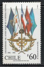 CHILE 1992 STAMP # 1571 MNH ARMY FLAGS